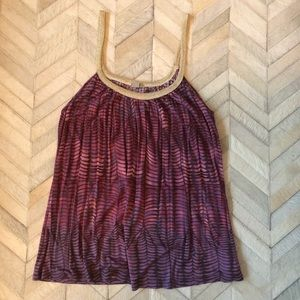 Urban Outfitters Purple Gold Tank Top - Large